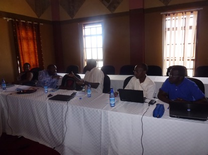 Discussions during the Nyimur Task Team Meeting in Kampala Uganda at Silver Springs hotel