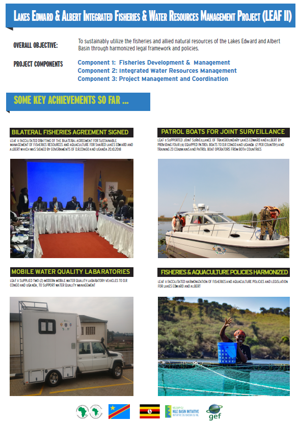 Lakes Edward & Albert Integrated Fisheries and Water Resources Management Project (LEAFII) Achievements Poster